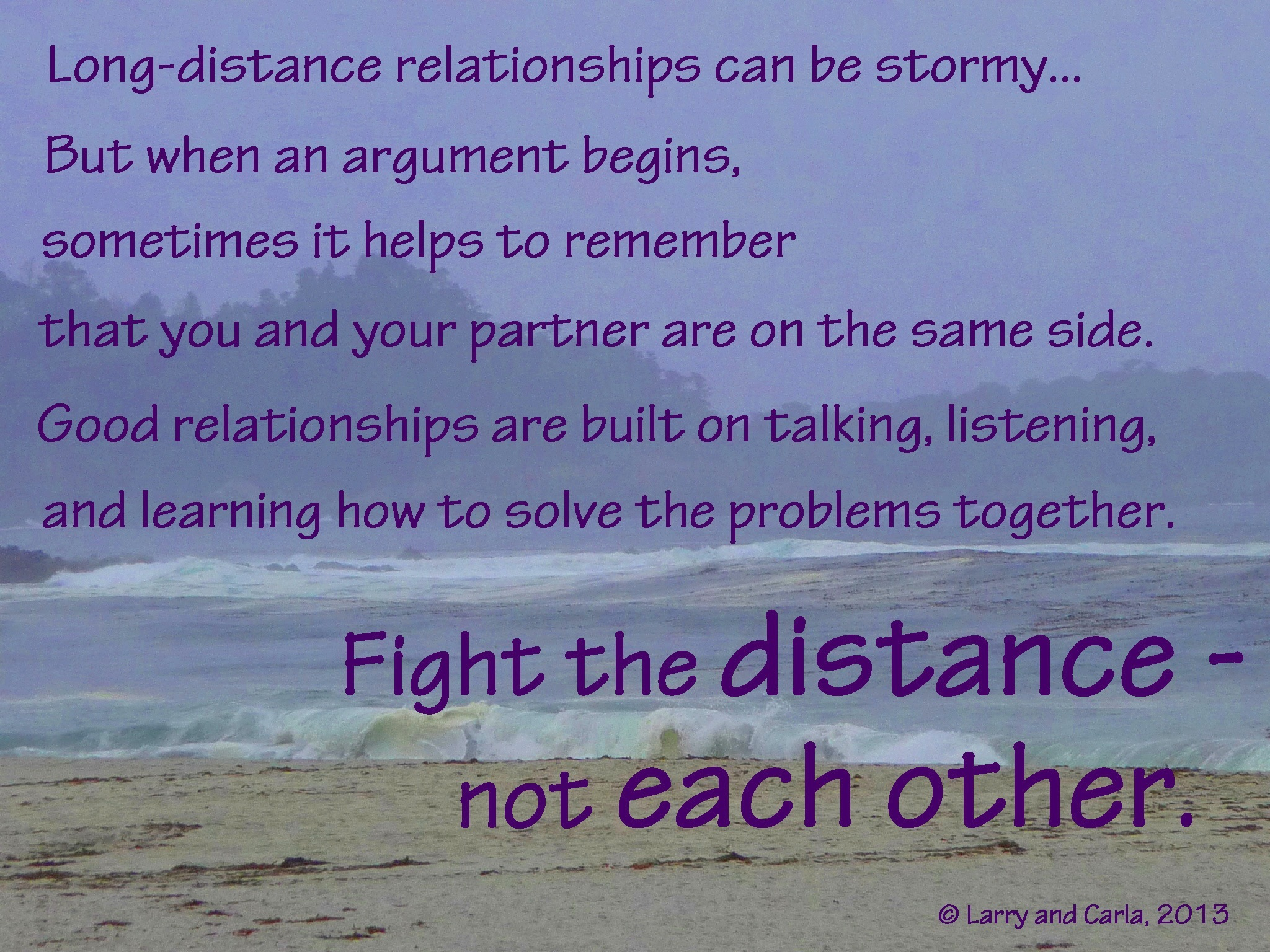 Long distance relationship fights