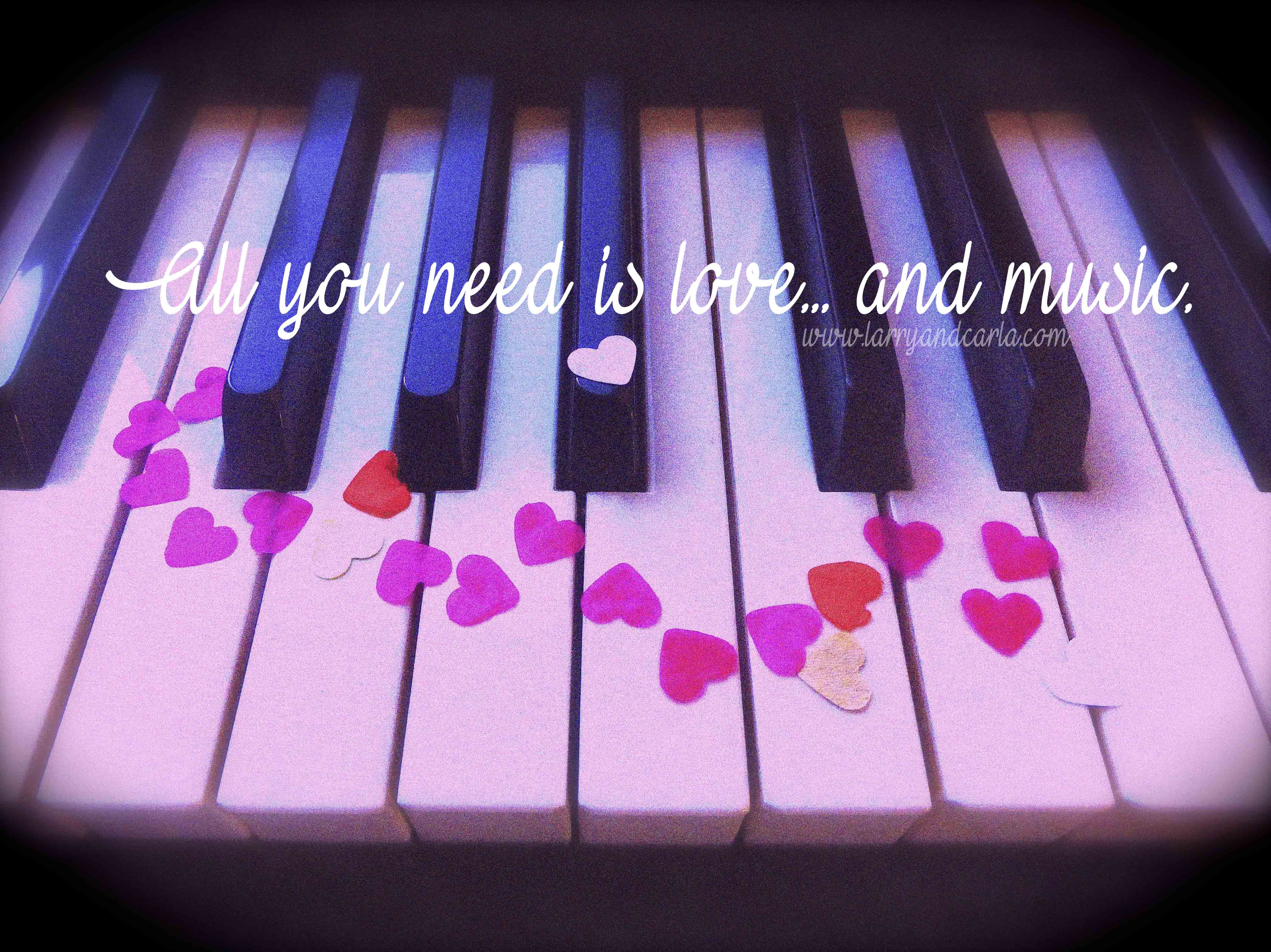 All You Need Is Love And Music Happy Valentines Day